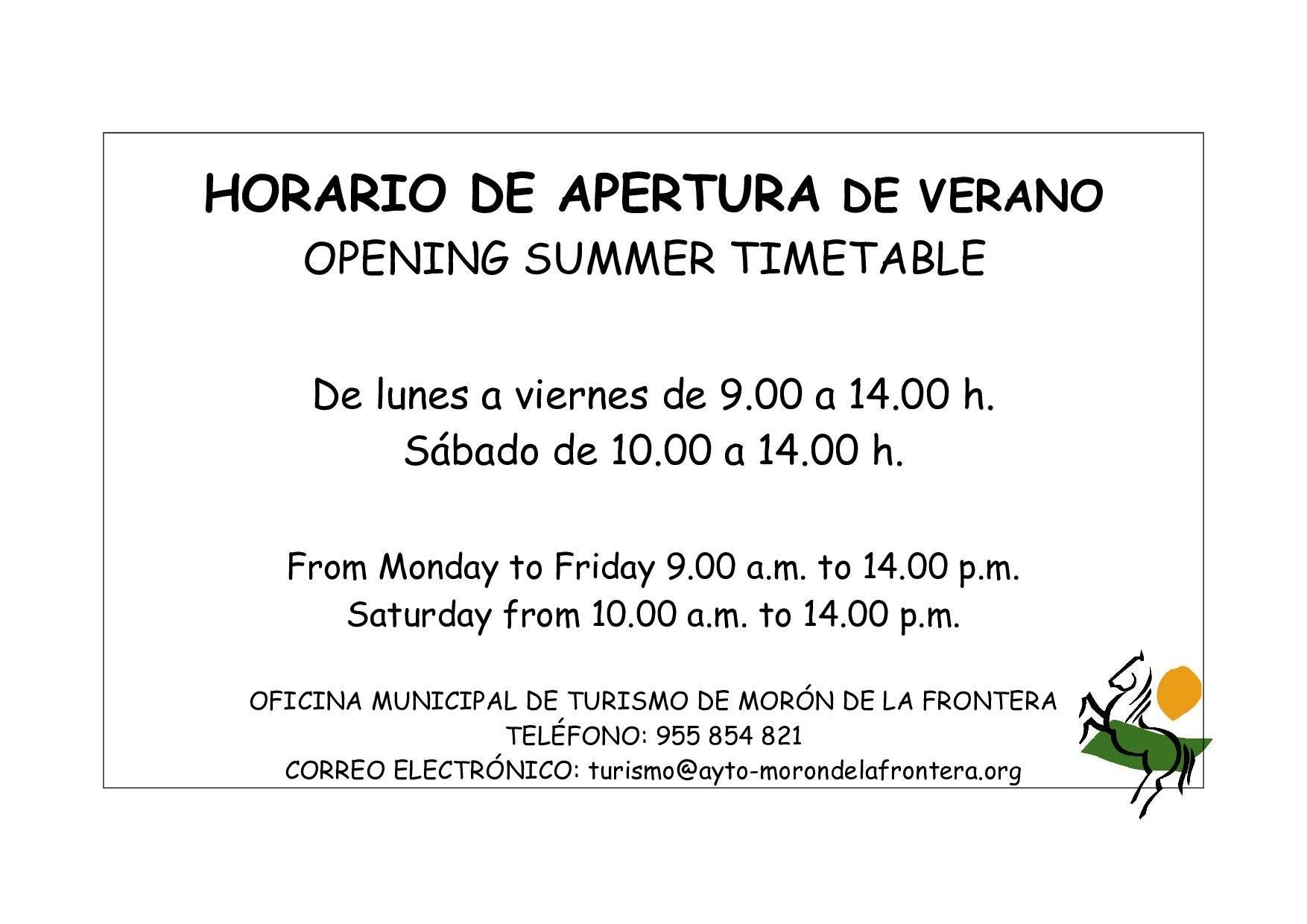 Ayuntamiento de mor n de la frontera oficina de turismo for Horario oficina adeslas