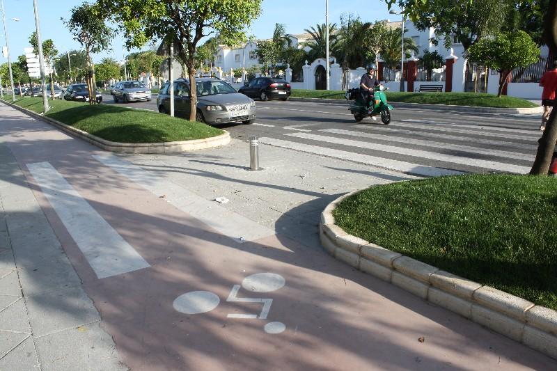Ayuntamiento de mor n de la frontera carril bici for Piscina municipal barrio del pilar